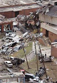 Oleada de tornados en EEUU